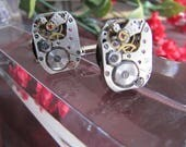 Steampunk Cufflinks, Steampunk Jewelry, PERFECT SETS, Man, Jewelry, Watch, Matched, Man, Man Gift, Wedding, Groomsmen Gift, Man Gift