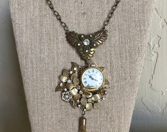 Steampunk, Steampunk Jewelry, Steampunk Necklace, Unique Gift, Gears, Gothic, Neo Victorian, Art, One A Kind Jewelry, Women's Necklace