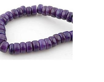 Purple mother of Pearl, irregular, washers 8.5/3-6 mm by 10 beads