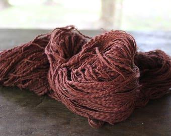 Organic Slub Cotton Yarn- Brown