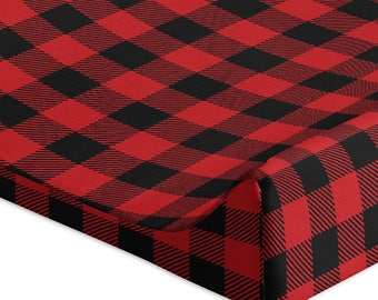 Buffalo Plaid Changing Pad Cover Rustic Changing Pad Cover Woodland Changing Pad Cover Rustic Nursery Bedding