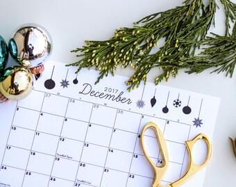 December 2017 Printable Calendar