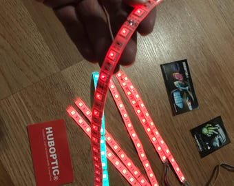 Huboptic LED Strip - Sound Reactive LED Wire Cosplay Lights for Projects Party Costume Dance Robot Helmet Mask Rave Wear lighting LED Clothi