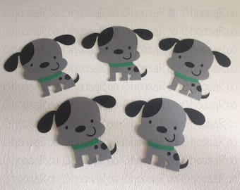 """4"""" Long Eared Puppy Dog Cutouts - Set of 5 - Centerpiece/Topper/Party Favor/Birthday Decoraions/Classroom/Scrapbooking *Made to Order*"""