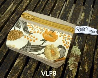 Door wallet linen and liberty yellow mustard