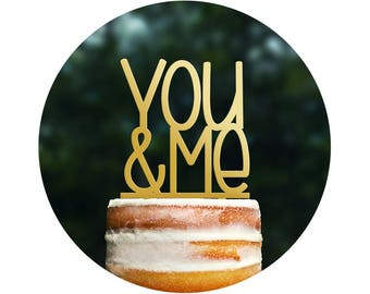 Wedding Cake Topper - You & Me Cake Topper by Chicago Factory- (T072)