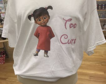 Too Cute tshirt you choose color and size