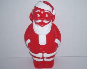 Vintage Plastic Santa Claus Bank Christmas Decoration