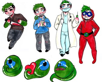 Jacksepticeye Sticker Pack