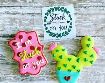 Cactus cookies / valentines cookies