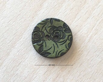 "Pretty ""flowers"" green size: 22 mm"