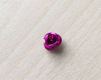 pretty pink fuchsia 12 mm metal