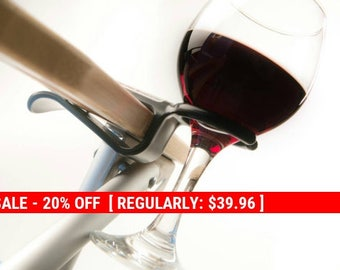 Holiday Sale 20% Off Four Wine Hooks w/ free shipping...Wine glass holder attaches to an outdoor chair. Use on most Patio, Beach,