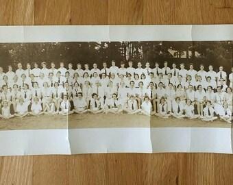 Vintage - Panoramic Photograph - Women's Summer Camp - 1930's - Asheville - North Carolina