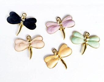 1 Enamel Dragonfly Charm Jewelry Supplies EDC26MM-1WD1