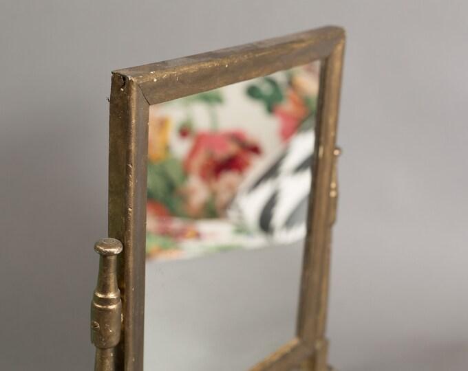 Vintage Standing Mirror - Adjustable Swivel Bronze Colored Dresser Vanity Mirror