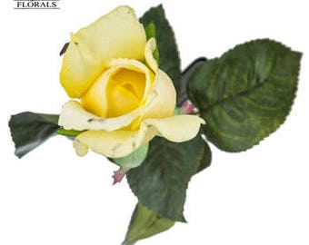 yellow closed rose premium boutonniere yellow boutonniere yellow boutonniere yellow colored wedding boutonniere