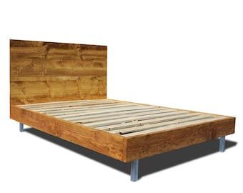 Modern Metal Bed Frames platform bed frame with metal legs / modern and rustic bed /