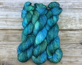 Reserved Listing for Marie Noelle Hand Dyed Merino Silk with a Twist Fingering Yarn 100 gms 438 yds: Earth Day