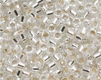 DB041 MIYUKI Delica 11/0 Silver Lined Crystal