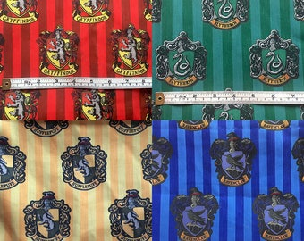 Harry Potter house crests FABRIC!