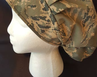 USAF Official Uniform Camo Air Force US Military Bouffant Surgical Scrub Hat