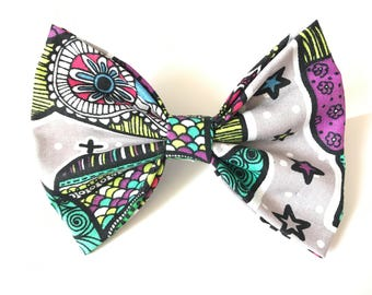 Owl Tribal Printed Hair Bow