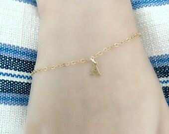 Personalized letter Bracelet Initial bracelet Gold Letter Bracelet Monogram Jewelry Letter jewelry Initial Jewelry 14k gold filled Bracelet