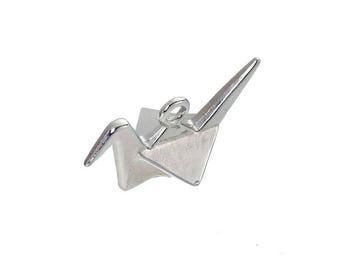 2 Tibetan silver origami bird X