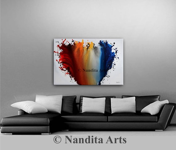 Modern Painting Acrylic Painting Canvas Art Contemporary Art Abstract  Painting Extra Large Wall Art Living Room Decor Modern Home Decor Part 59