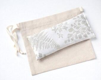 Eye pillow, Lavender Eye Pillow, Fern Print Eye pillow, Valentine gift, Relaxation, Sleep Aid, Yoga, Heating pad, Spa gift, Gift