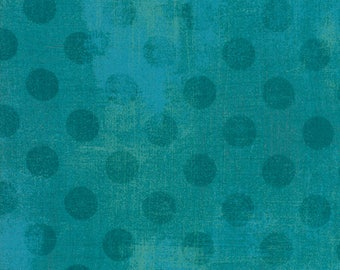 1/2 Yard - Grunge Hits the Spot - Ocean - BasicGrey - Moda - Fabric Yardage - 30149 31