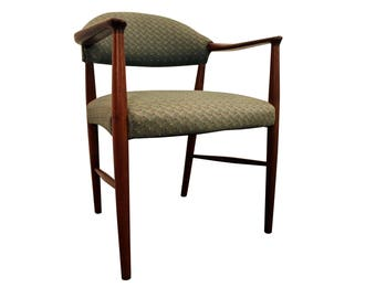 Mid-Century Arm Chair Danish Modern Teak Open Lounge/Accent Chair