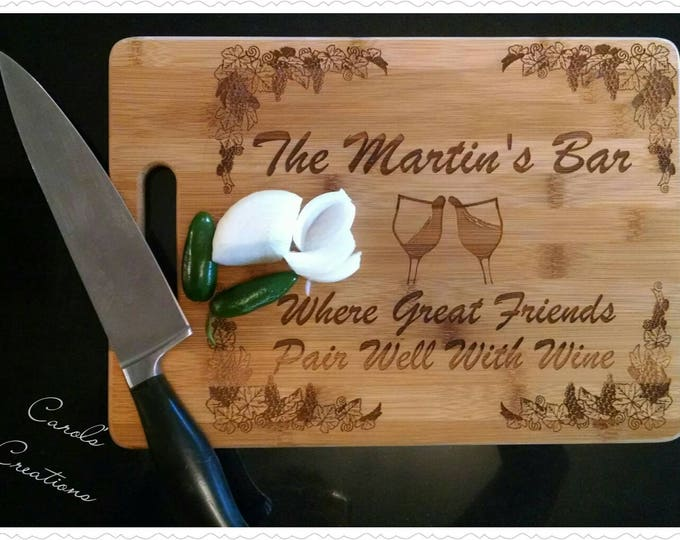 Featured listing image: personalized engraved cutting board,cheese board,house warming gift,wedding gift,culinary gift,cutting board,corporate gift,promotional gift