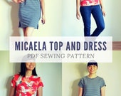 The Micaela Top and Dress PDF sewing pattern and step by step sewing tutorial