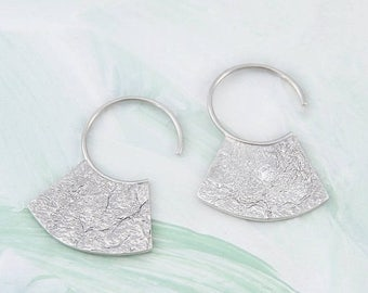 ON SALE NOW Silver Hoop Earrings, Textured Hoops, Aztec Earrings, Sterling Silver, Tribal Earrings, Small Hoops, Silver Hoops, Ethnic Jewelr