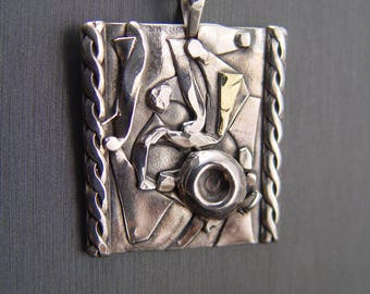 Fused One of A Kind Sterling Silver With 18K Accent