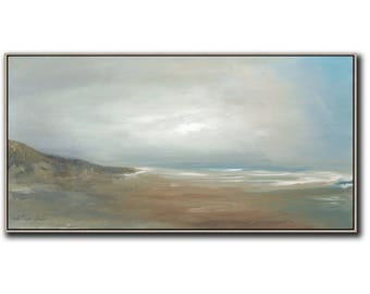 "36"" x 18"" ORIGINAL ABSTRACT PAINTING, Landscape, Large painting, Acrylic on canvas"