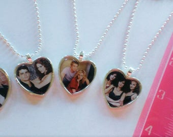 YOU PICK Character Heart Shaped Cameo Necklace