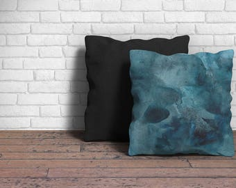 Blue Decorative Pillow, Blue Home Decor,  Living Room Decor Blue, Stylish Throw Pillow, Decorative Pillows