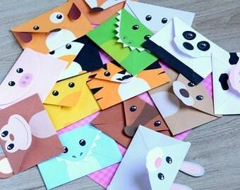 Silly Animal Envelopes Printable PDF