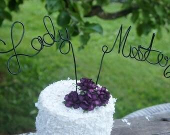 Mister & Lady Custom Wedding Cake Topper