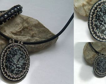 Speckled Obsidian necklace