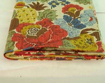 2 Yards of Vintage Waverly Brookline Stencil Fabric