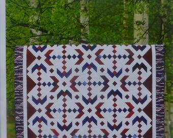 Anniversary Sale Pattern~Glory~Quilt Pattern, Patriotic~ 2 and One Half Strips~ Cozy Quilt~Fast Shipping PT162