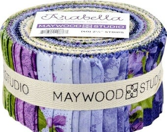 Anniversary Sale Arabella Cotton Fabric~Jelly Roll 40 2.5-inch Strips Maywood Studio~Fast Shipping,JR422