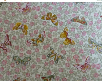 Clearance SALE Grandeur by Robert Kaufman, Beautiful Butterflies, By the Yard, 43/44 inches Wide