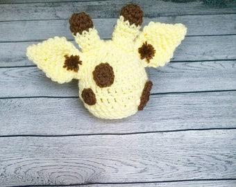 Giraffe Hat - Giraffe Prop - Giraffe Photography Prop - Baby Giraffe - Preemie Giraffe - Newborn Giraffe - Safari Hat - Safari Prop