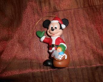 "The Walt Disney Co Mickey Mouse Christmas Tree Ornament Tree Vintage  Retro 4"""