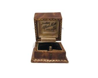 Vintage ring box 1930 Alfred Moss Walsall  Engagement Ring Gift Box Ring Display Box Vintage Wedding Ring Box Ring Something Old